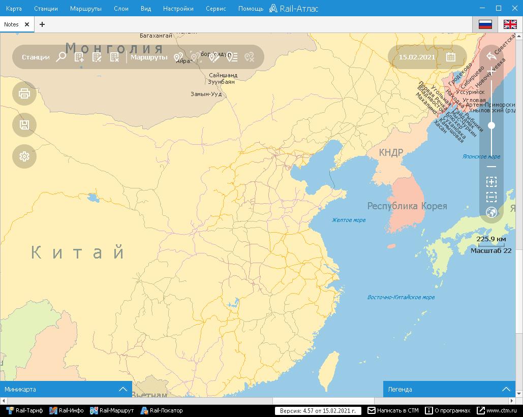 Rail-Атлас – карта