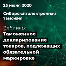 Сибирская электронная таможня при поддержке СТМ проведет вебинар